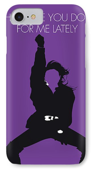 Rhythm And Blues iPhone 7 Case - No091 My Janet Jackson Minimal Music Poster by Chungkong Art