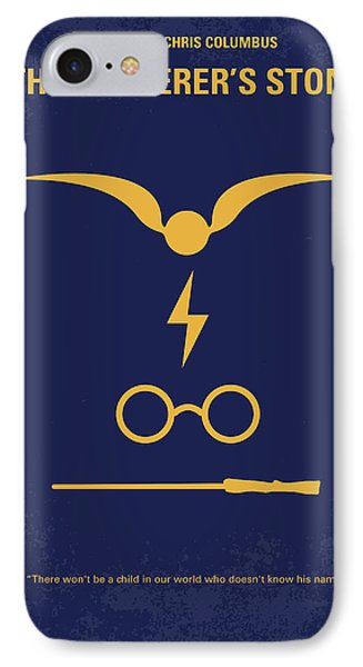 No101-1 My Hp - Sorcerers Stone Minimal Movie Poster IPhone Case by Chungkong Art