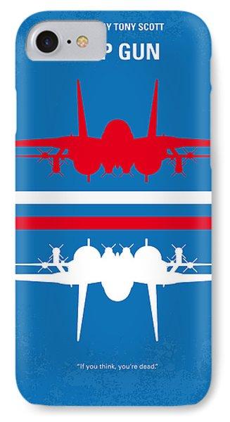 No128 My Top Gun Minimal Movie Poster IPhone 7 Case by Chungkong Art