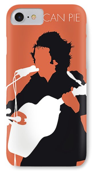 Folk Art iPhone 7 Case - No143 My Don Mclean Minimal Music Poster by Chungkong Art