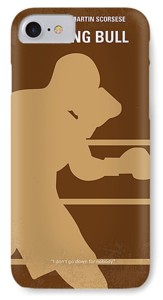 No174 My Raging Bull Minimal Movie Poster IPhone Case by Chungkong Art