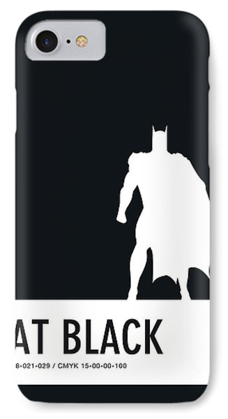 No20 My Minimal Color Code Poster Batman IPhone Case by Chungkong Art