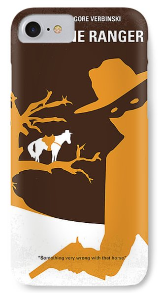 No202 My The Lone Ranger Minimal Movie Poster Phone Case by Chungkong Art