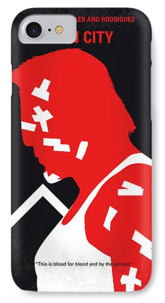 Jessica Alba iPhone 7 Case - No304-1 My Sin City Minimal Movie Poster by Chungkong Art