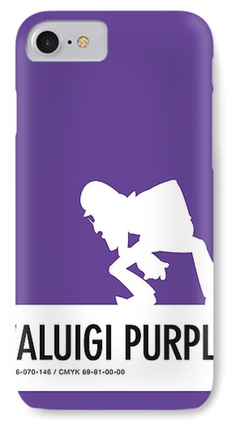 No42 My Minimal Color Code Poster Waluigi IPhone Case
