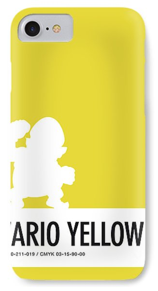No43 My Minimal Color Code Poster Wario IPhone Case by Chungkong Art