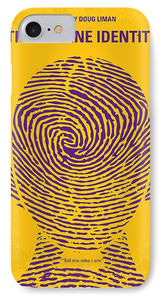 No439 My The Bourne Identity Minimal Movie Poster IPhone Case by Chungkong Art