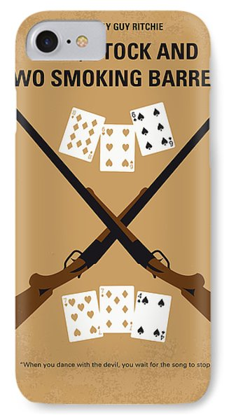 No441 My Lock Stock And Two Smoking Barrels Minimal Movie Poster IPhone Case by Chungkong Art