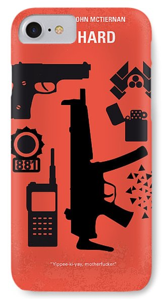 No453 My Die Hard Minimal Movie Poster IPhone Case by Chungkong Art