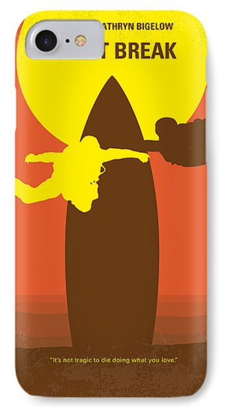 No455 My Point Break Minimal Movie Poster IPhone Case by Chungkong Art