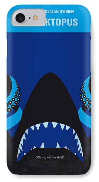 Reef Shark iPhone 7 Case - No485 My Sharktopus Minimal Movie Poster by Chungkong Art