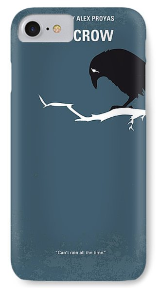 Crow iPhone 7 Case - No488 My The Crow Minimal Movie Poster by Chungkong Art