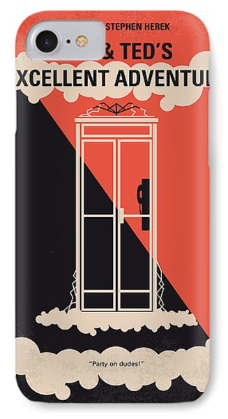 No490 My Bill And Teds Excellent Adventure Minimal Movie Poster IPhone Case by Chungkong Art