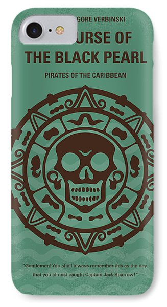 Sparrow iPhone 7 Case - No494-1 My Pirates Of The Caribbean I Minimal Movie Poster by Chungkong Art