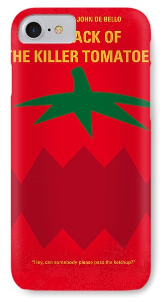 No499 My Attack Of The Killer Tomatoes Minimal Movie Poster IPhone Case by Chungkong Art