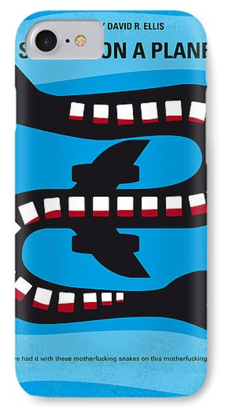 No501 My Snakes On A Plane Minimal Movie Poster IPhone Case by Chungkong Art
