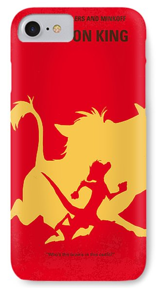 Lion iPhone 7 Case - No512 My The Lion King Minimal Movie Poster by Chungkong Art