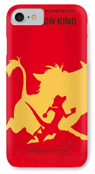 Meerkat iPhone 7 Case - No512 My The Lion King Minimal Movie Poster by Chungkong Art