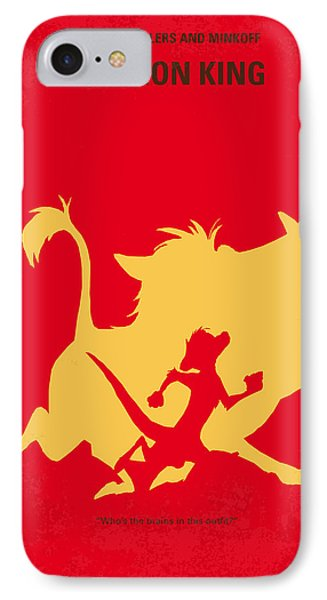 No512 My The Lion King Minimal Movie Poster IPhone Case by Chungkong Art