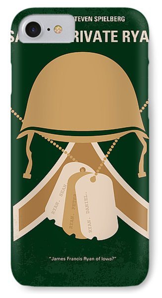 No520 My Saving Private Ryan Minimal Movie Poster IPhone Case by Chungkong Art