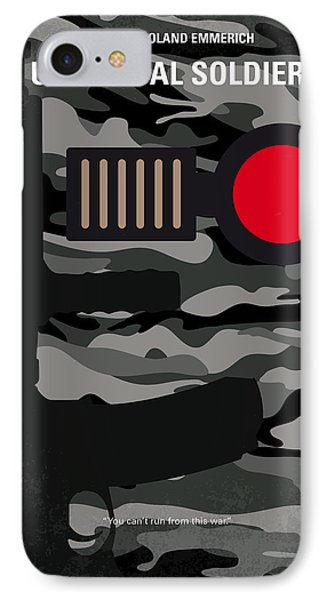 No523 My Universal Soldier Minimal Movie Poster IPhone Case by Chungkong Art