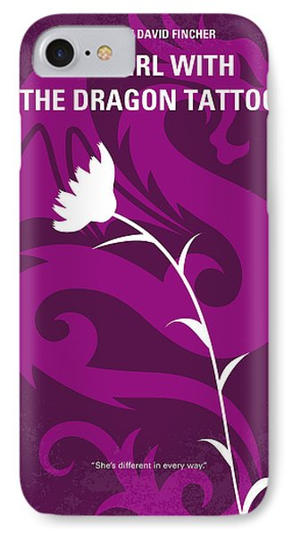 No528 My The Girl With The Dragon Tattoo Minimal Movie Poster IPhone Case by Chungkong Art