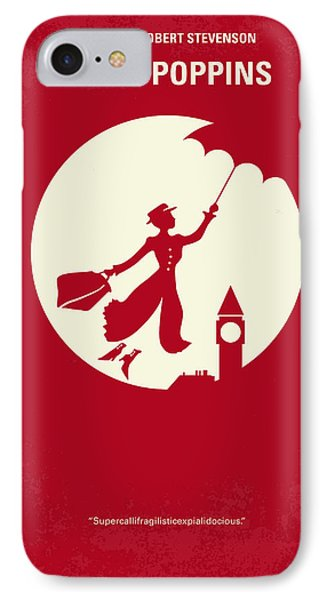 No539 My Mary Poppins Minimal Movie Poster IPhone Case by Chungkong Art