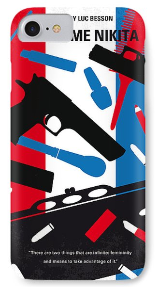 No545 My La Femme Nikita Minimal Movie Poster IPhone Case by Chungkong Art