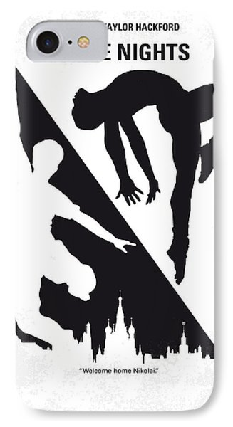No554 My White Nights Minimal Movie Poster IPhone Case by Chungkong Art