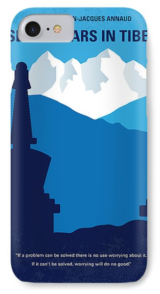 No559 My Seven Years In Tibet Minimal Movie Poster IPhone Case by Chungkong Art