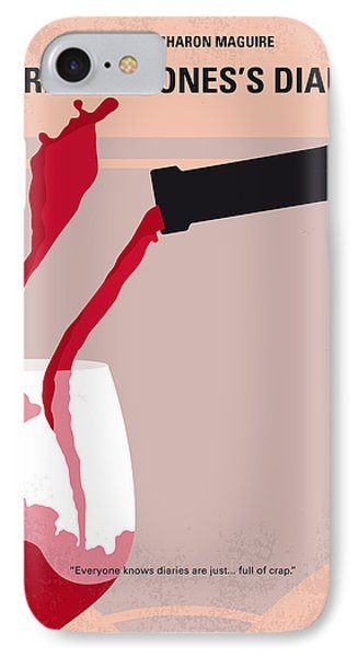 No563 My Bridget Jones Diary Minimal Movie Poster IPhone Case by Chungkong Art