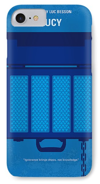 No574 My Lucy Minimal Movie Poster IPhone Case by Chungkong Art