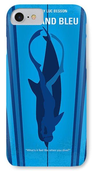 No577 My Big Blue Minimal Movie Poster IPhone Case