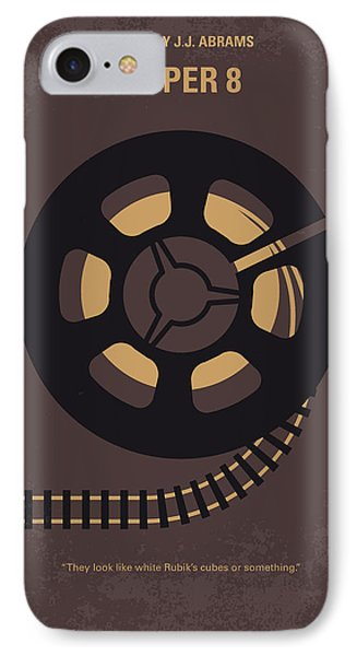 Train iPhone 7 Case - No578 My Super 8 Minimal Movie Poster by Chungkong Art