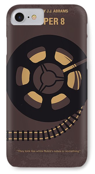 No578 My Super 8 Minimal Movie Poster IPhone Case by Chungkong Art