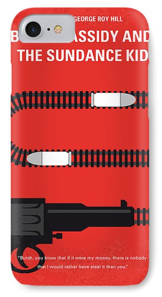 No585 My Butch Cassidy And The Sundance Kid Minimal Movie Poster IPhone Case by Chungkong Art