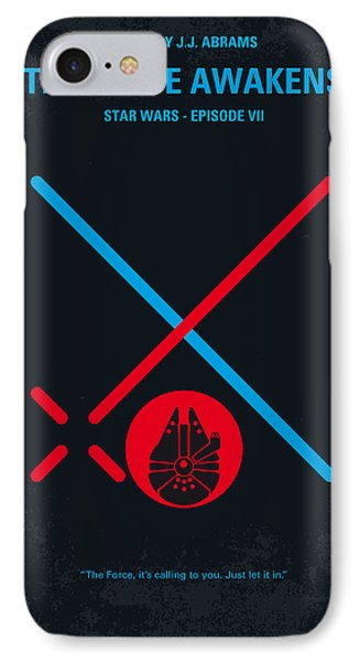 No591 My Star Wars Episode Vii The Force Awakens Minimal Movie Poster IPhone Case by Chungkong Art