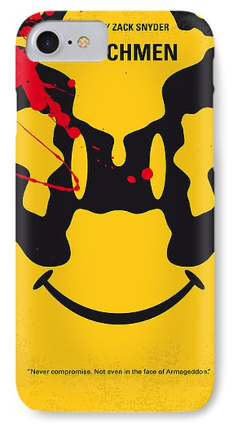 No599 My Watchmen Minimal Movie Poster IPhone Case by Chungkong Art