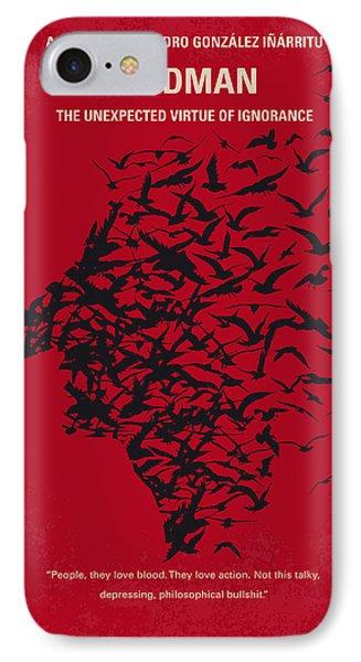 No604 My Birdman Minimal Movie Poster IPhone Case by Chungkong Art