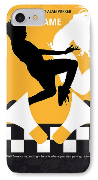 No619 My Fame Minimal Movie Poster IPhone Case by Chungkong Art