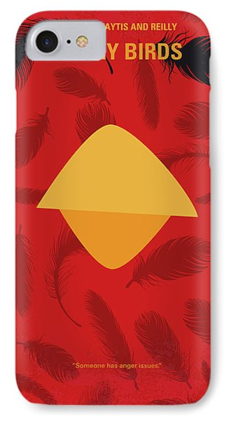 No658 My Angry Birds Movie Minimal Movie Poster IPhone Case by Chungkong Art