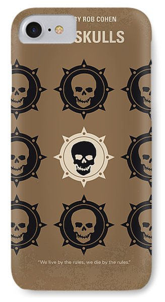 No662 My The Skulls Minimal Movie Poster IPhone Case by Chungkong Art