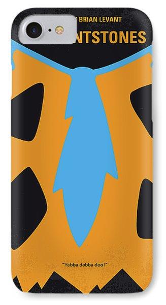 No669 My The Flintstones Minimal Movie Poster IPhone Case