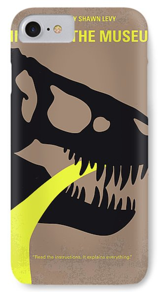 No672 My Night At The Museum Minimal Movie Poster IPhone Case by Chungkong Art