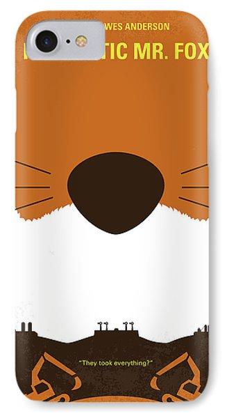 No673 My Fantastic Mr Fox Minimal Movie Poster IPhone Case
