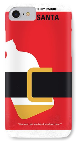 No702 My Bad Santa Minimal Movie Poster IPhone Case by Chungkong Art