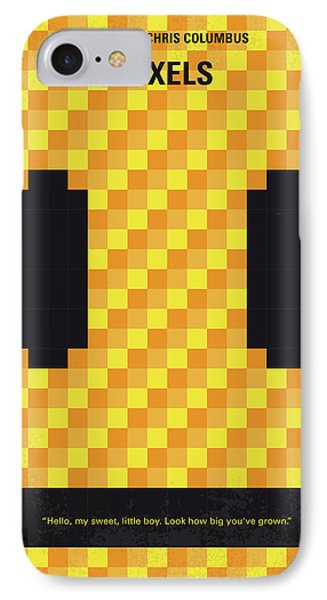No703 My Pixels Minimal Movie Poster IPhone Case by Chungkong Art