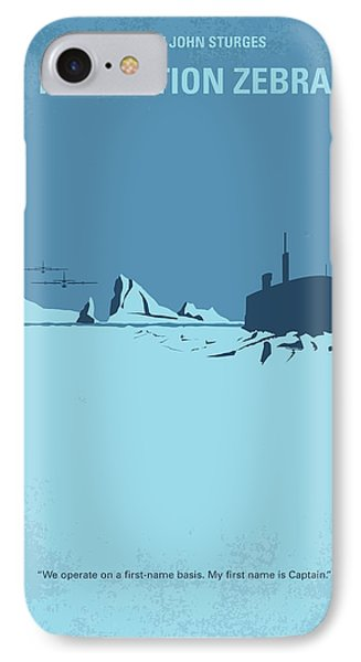 No711 My Ice Station Zebra Minimal Movie Poster IPhone Case by Chungkong Art