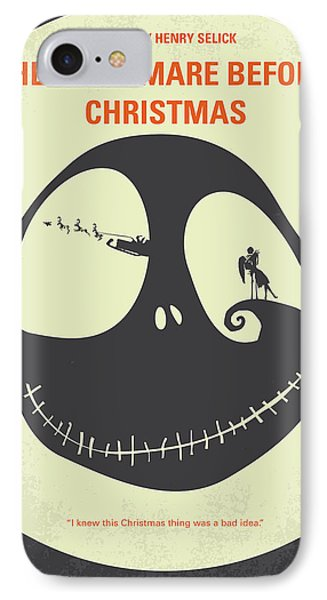 The iPhone 7 Case - No712 My The Nightmare Before Christmas Minimal Movie Poster by Chungkong Art