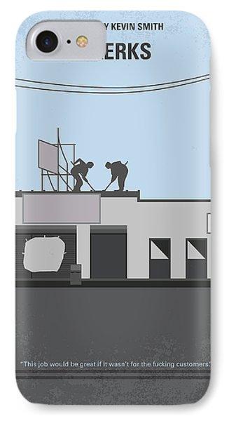 Hockey iPhone 7 Case - No715 My Clerks Minimal Movie Poster by Chungkong Art